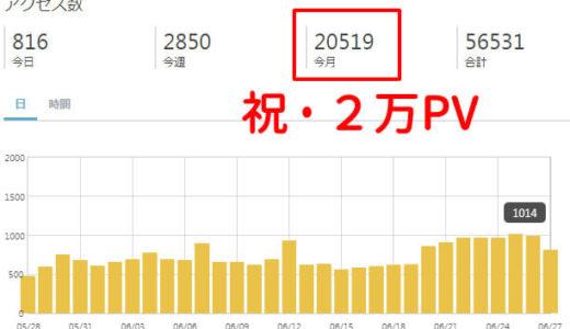 ブログ開設6ヶ月で月間2万PV突破!取り組んできたSEO対策は効果が出てきた?