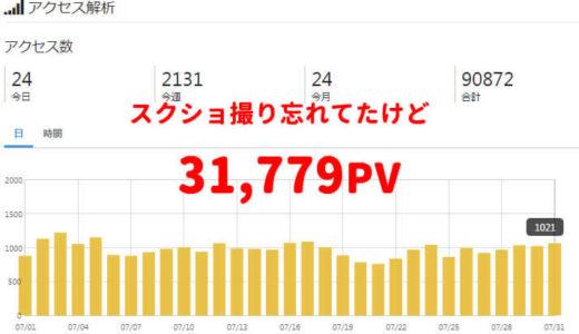 【ブログ運営報告】7ヶ月目で3万PV突破!でも収益は比例しない。